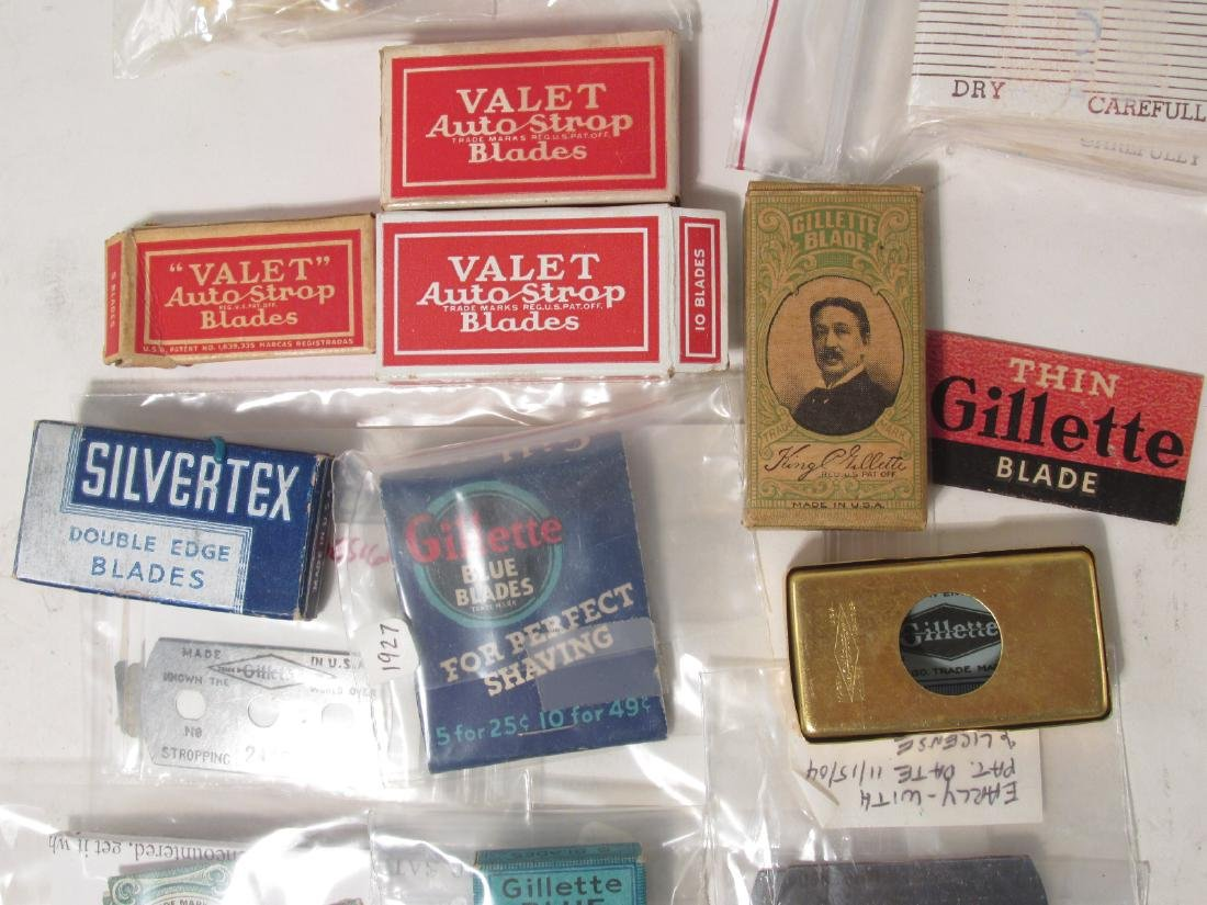 COLLECTION VINTAGE SAFETY RAZOR BLADES VALET SMITH - 3