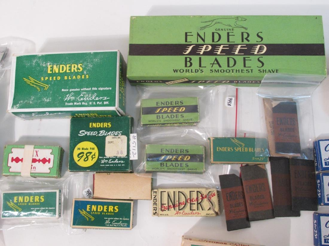 COLLECTION VINTAGE SAFETY RAZOR BLADES VALET SMITH - 6