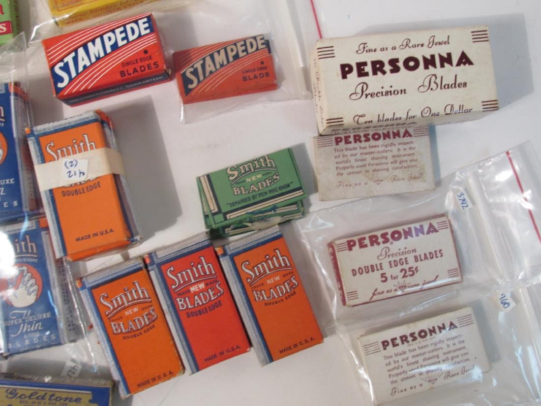COLLECTION VINTAGE SAFETY RAZOR BLADES VALET SMITH - 8
