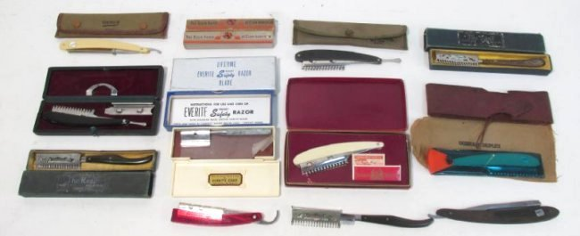 ASSORTED VINTAGE STRAIGHT & TRANSITIONAL RAZORS
