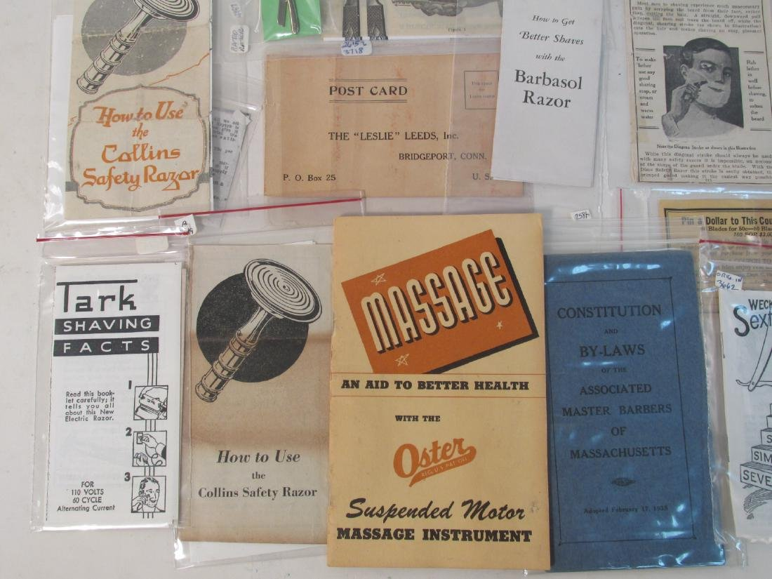 COLLECTION VINTAGE SHAVING & SAFETY RAZOR EPHEMERA - 2