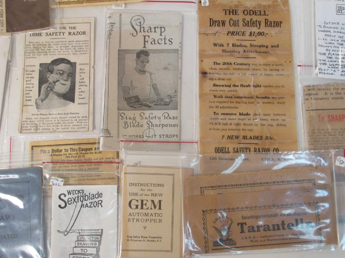 COLLECTION VINTAGE SHAVING & SAFETY RAZOR EPHEMERA - 3