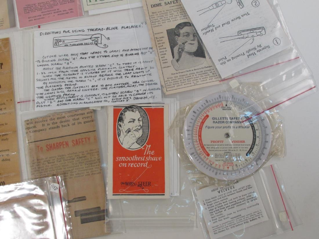 COLLECTION VINTAGE SHAVING & SAFETY RAZOR EPHEMERA - 4