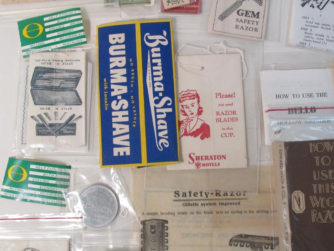 COLLECTION VINTAGE SHAVING & SAFETY RAZOR EPHEMERA - 7