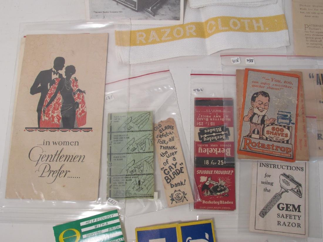COLLECTION VINTAGE SHAVING & SAFETY RAZOR EPHEMERA - 8