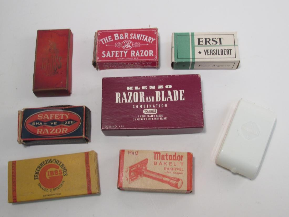 EIGHT VINTAGE COLLECTABLE SAFETY RAZORS: ERST, ETC - 2