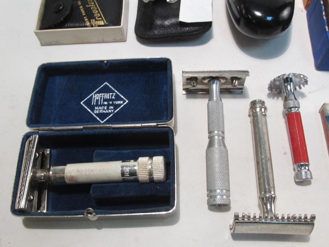 ASSORTED VINTAGE SAFETY RAZORS, DRY SHAVERS, ETC. - 2
