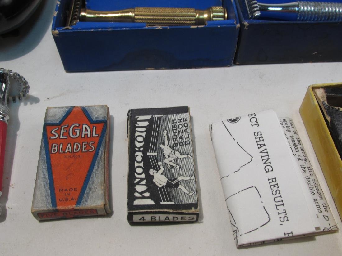 ASSORTED VINTAGE SAFETY RAZORS, DRY SHAVERS, ETC. - 3