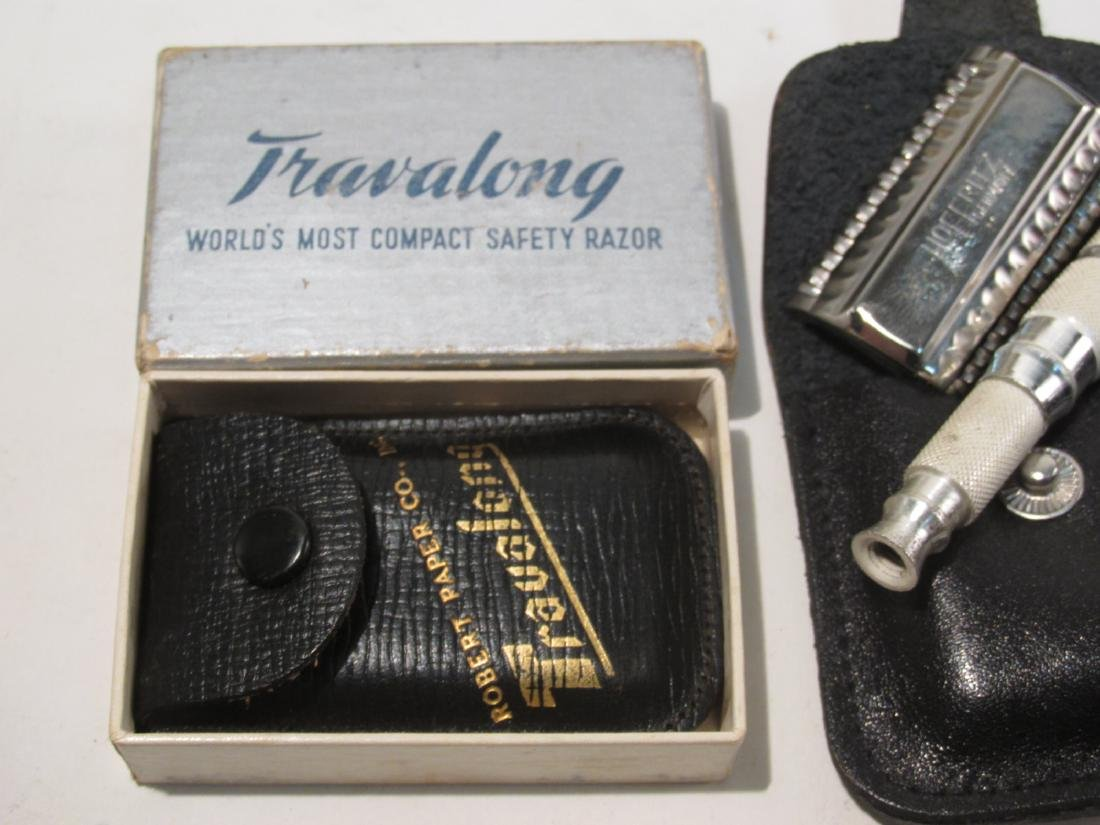ASSORTED VINTAGE SAFETY RAZORS, DRY SHAVERS, ETC. - 7