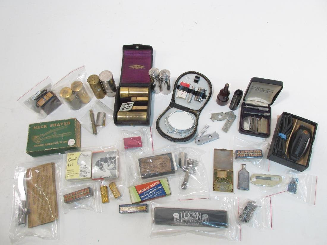 ASSORTED VINTAGE SAFETY RAZORS & HAIR TRIMMERS