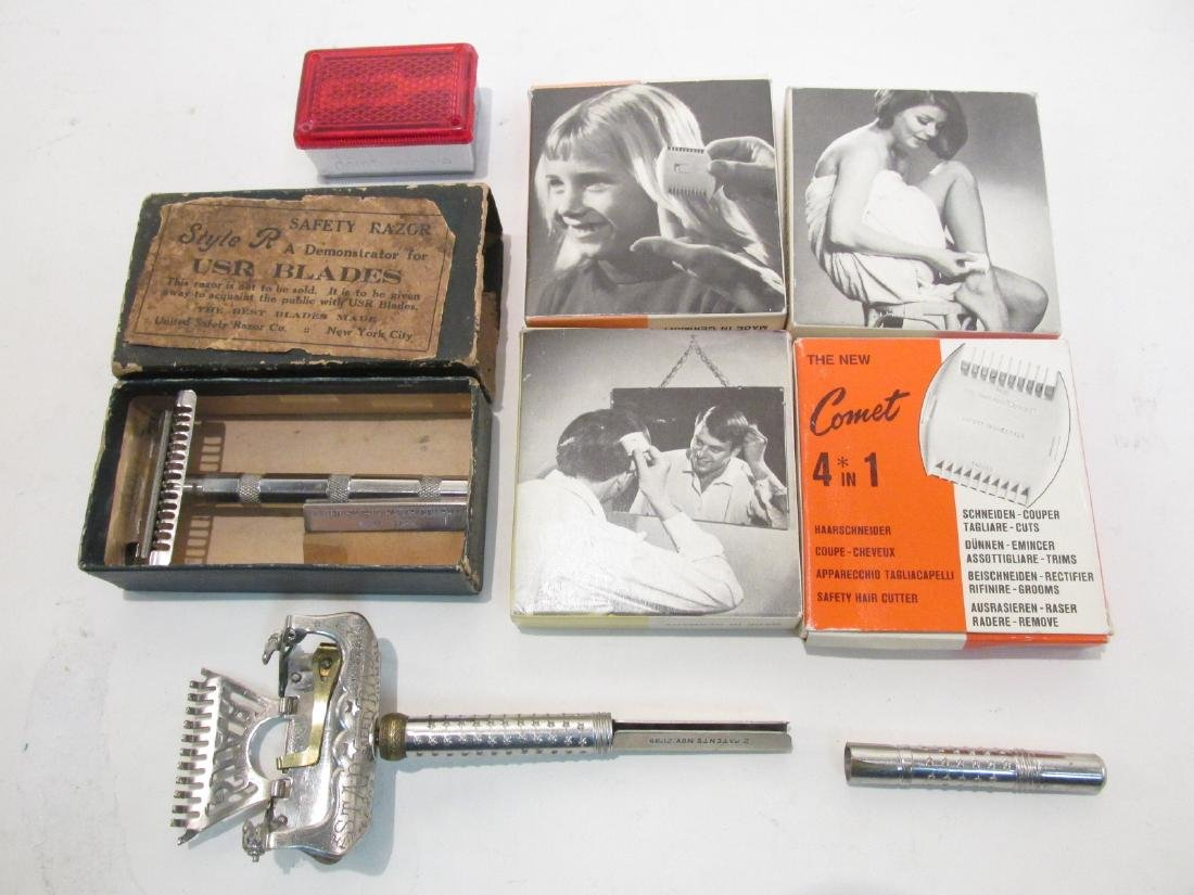 ASSORTED VINTAGE SAFETY RAZORS & HAIR TRIMMERS - 8