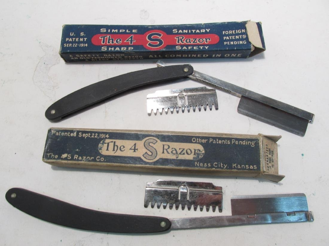 ASSORTED ANTIQUE AND VINTAGE STRAIGHT RAZORS - 7