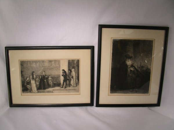 918: W. UNGER ENGRAVING REMBRANDT & E. BLAAS PINX