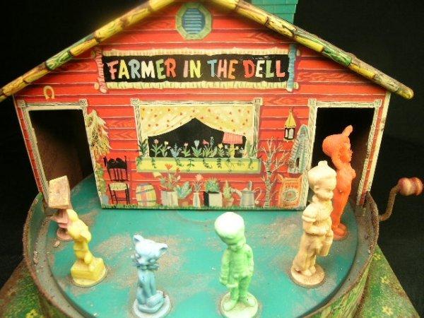 1247: 1950'S MATTEL TIN TOY FARMER IN THE DELL - 7