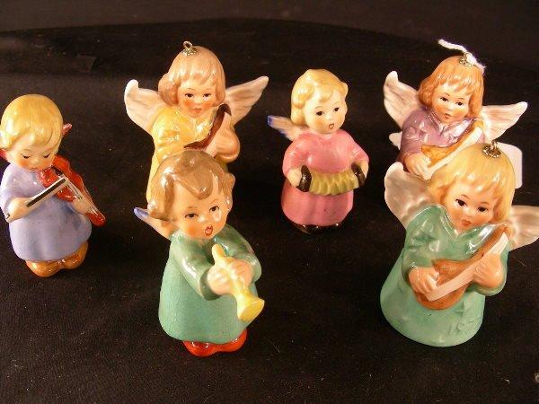 7: 6 PCS GOEBEL PORCELAIN ANGELS PLAYING INSTRUMENTS