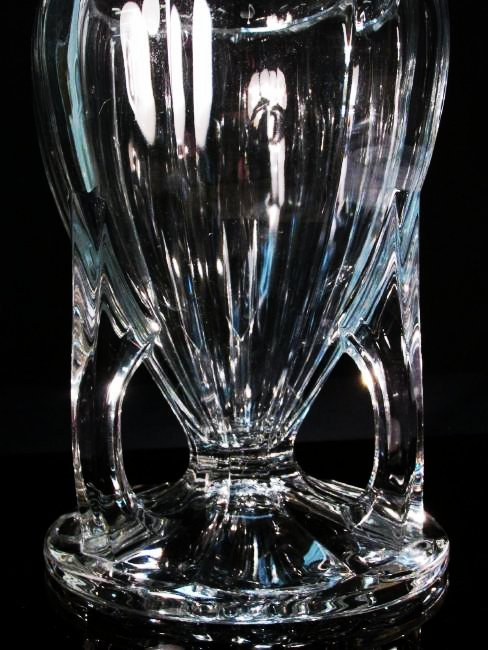 "LARGE HEISEY 444 COLONIAL 11.5"" CUT GLASS VASE - 3"