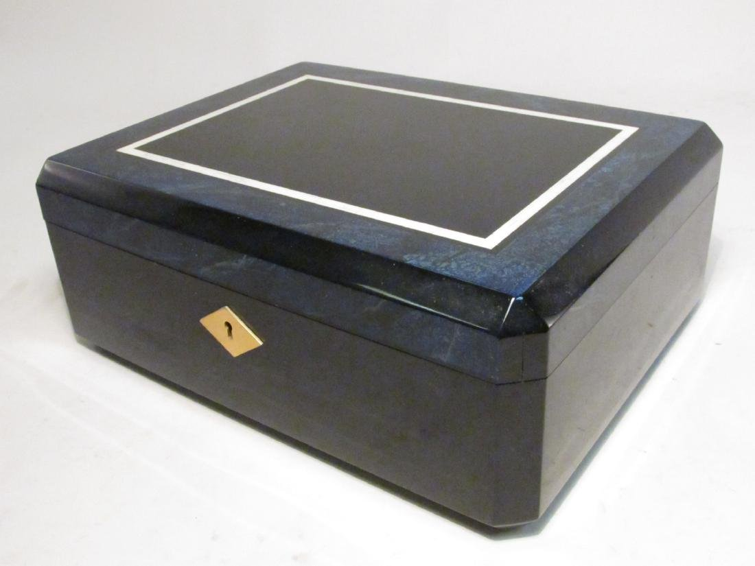 PARISIAN CUSTOM MADE LACQUER JEWELRY BOX