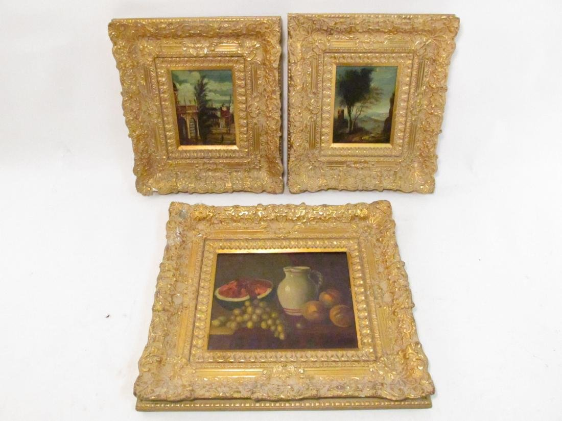 THREE VINTAGE J. VAN HOOT OIL ON PANEL PAINTINGS