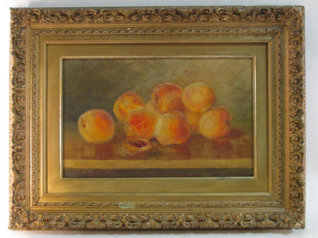 EARLY 19TH C OIL ON CANVAS PAINTING: NATURA MORTA