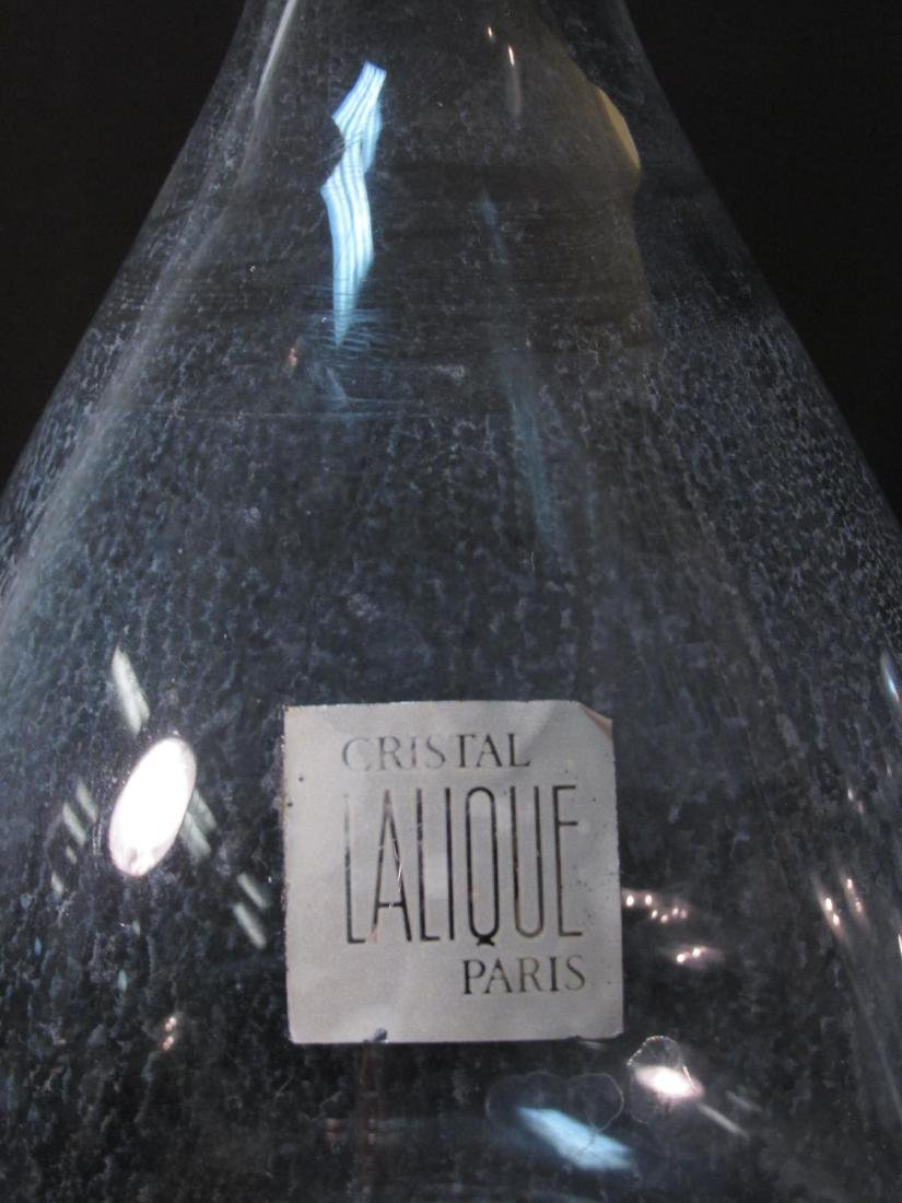 "LALIQUE ""PHALSBOURG"" CRYSTAL DECANTER 9.5"" - 3"