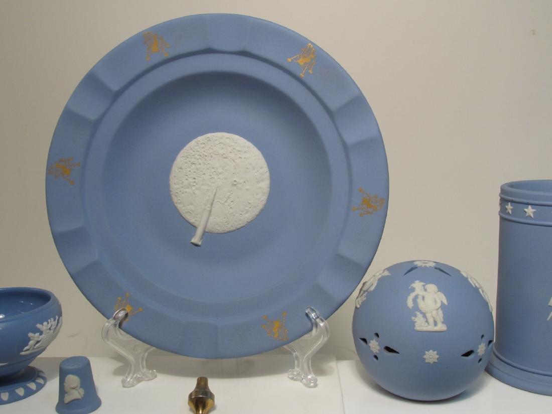 ASSORTED WEDGWOOD BLUE JASPERWARE POTTERY 25 PCS - 5