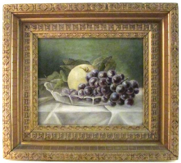 ANTIQUE OIL ON CANVAS NATURA MORTE PAINTING