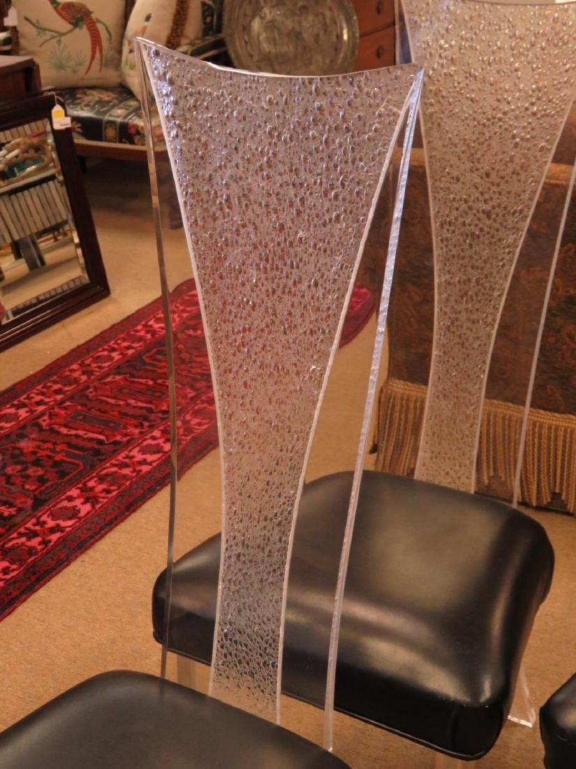 SIX VINTAGE LUCITE DINING CHAIRS - 2