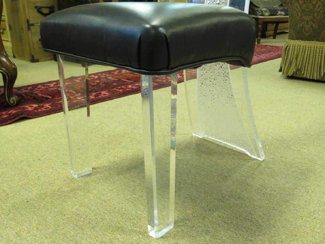 SIX VINTAGE LUCITE DINING CHAIRS - 4