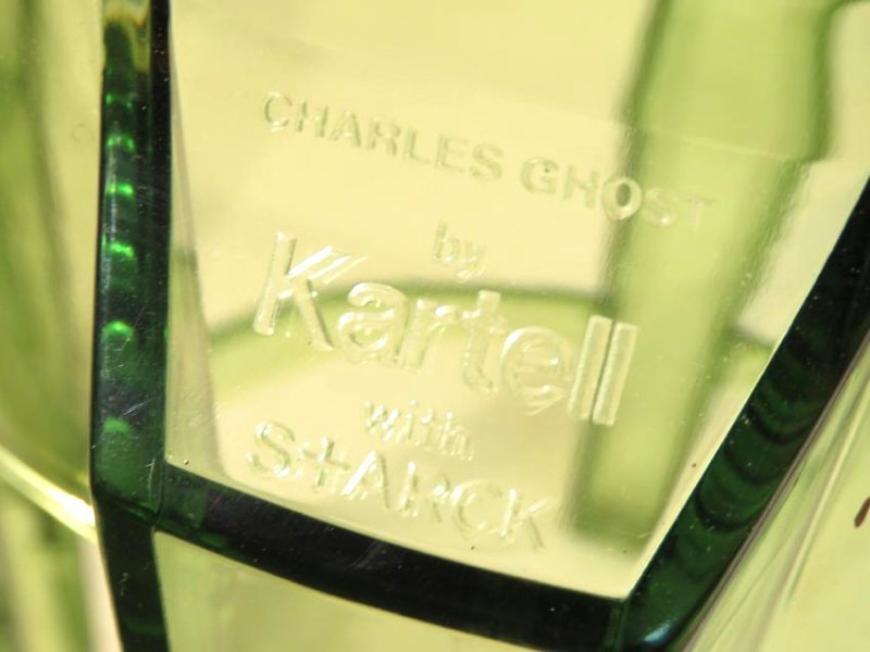 PAIR KARTELL CHARLES GHOST STOOLS - CLEAR GREEN - 2