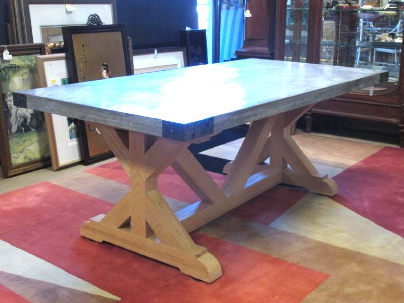 LARGE & HEAVY CONCRETE DINING TABLE