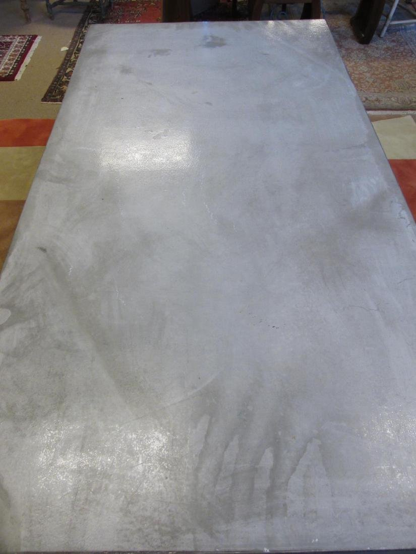 LARGE & HEAVY CONCRETE DINING TABLE - 2