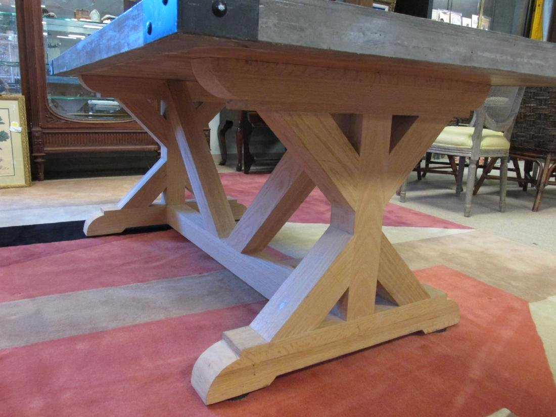 LARGE & HEAVY CONCRETE DINING TABLE - 4