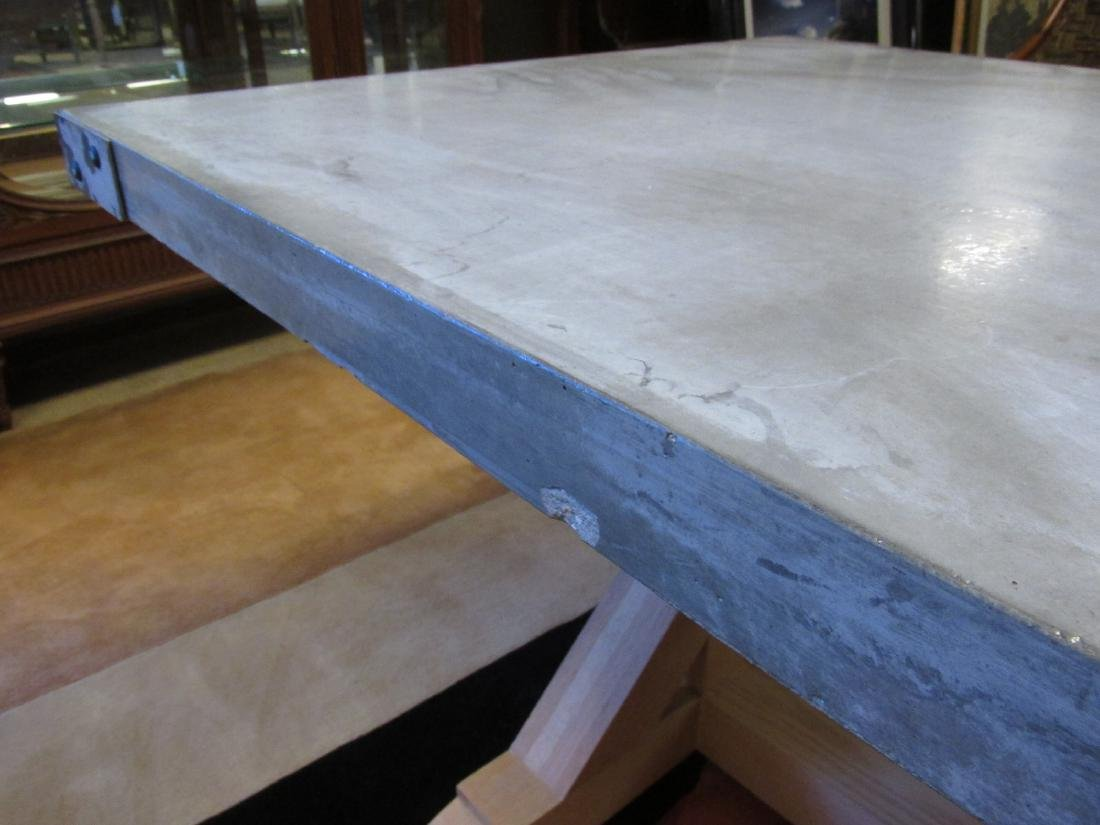 LARGE & HEAVY CONCRETE DINING TABLE - 6