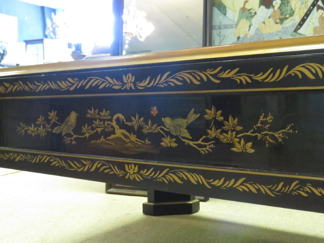 C. SPENCER CHINOISERIE BLACK LACQUER COFFEE TABLE - 8