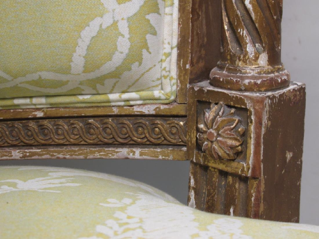 PAIR ANTIQUE LOUIS XV GILTWOOD SIDE CHAIRS - 4