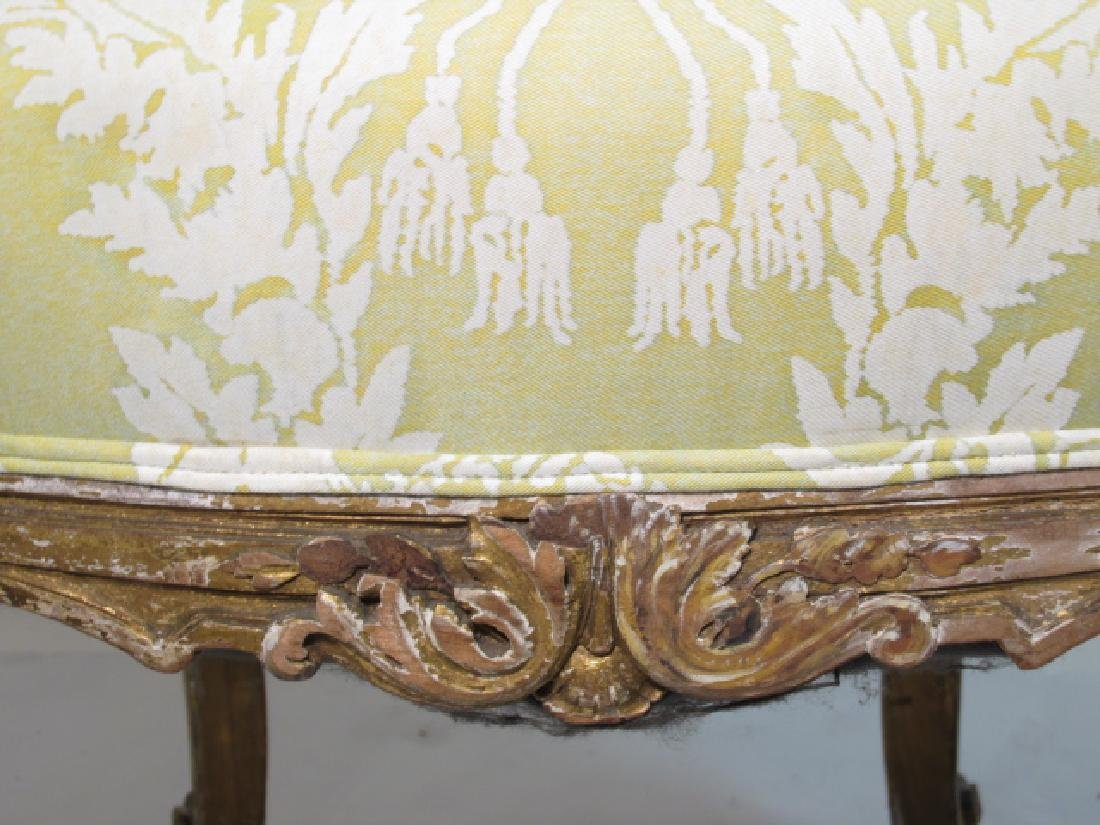 PAIR ANTIQUE LOUIS XV GILTWOOD SIDE CHAIRS - 6