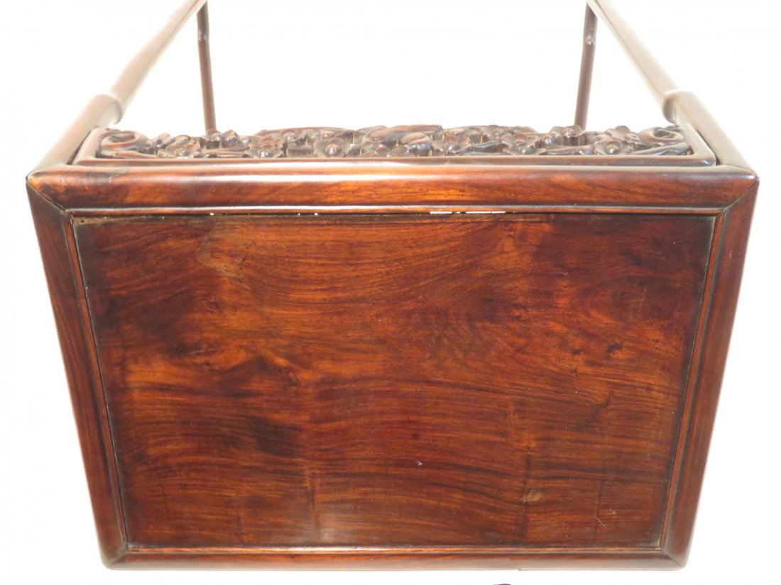 ANTIQUE CHINESE CARVED ROSEWOOD SIDE TABLE - 2