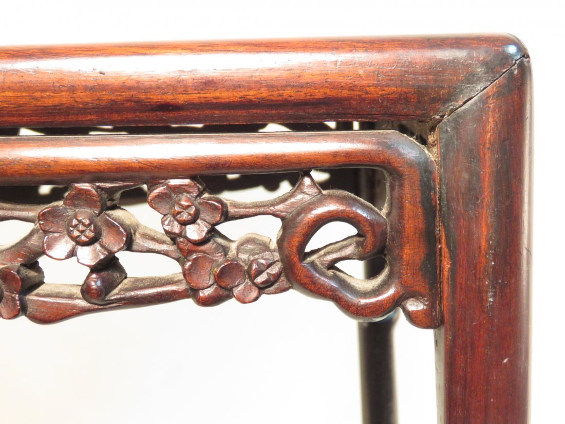 ANTIQUE CHINESE CARVED ROSEWOOD SIDE TABLE - 4