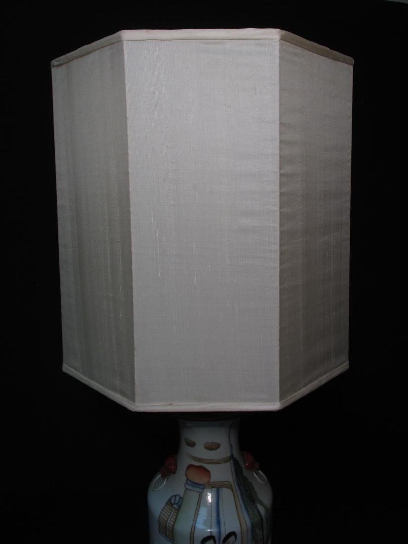 CHINESE FAMILLE ROSE PORCELAIN VASE AS TABLE LAMP - 13