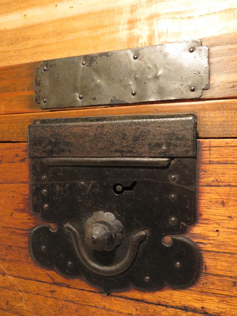 ANTIQUE KOREAN BRONZE MOUNTED TANSU STYLE STACKING CHES - 6