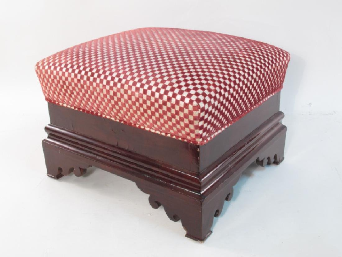 TWO EARLY 19TH C EMPIRE MAHOGANY FOOTSTOOLS - 2