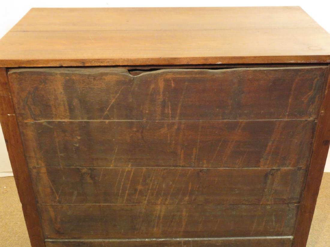ANTIQUE 19TH CENTURY CHERRYWOOD CHEST OF DRAWERS - 4