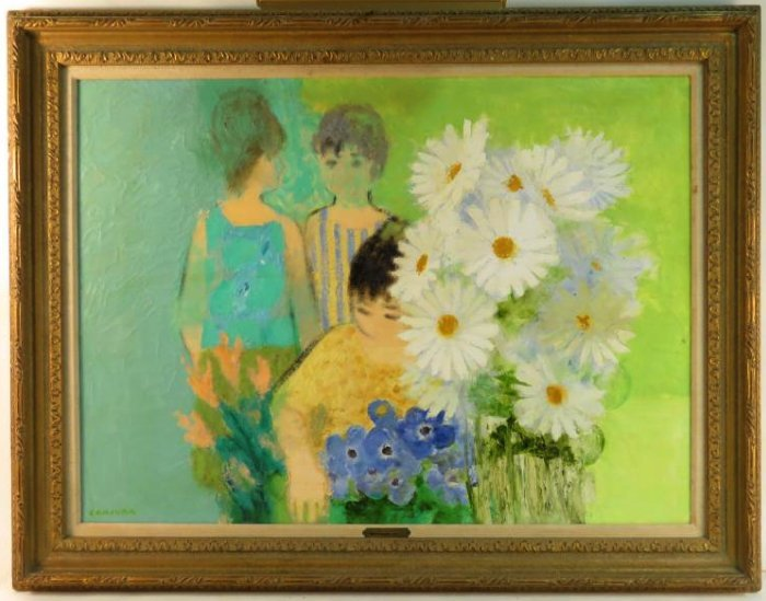 NOE CANJURA OIL ON CANVAS PAINTING