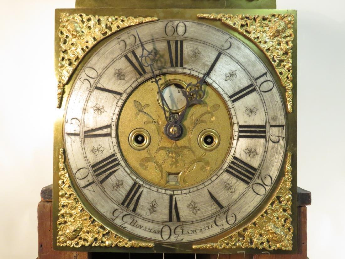 ANTIQUE ENGLISH OAK LONGCASE GRANDFATHER CLOCK - 2