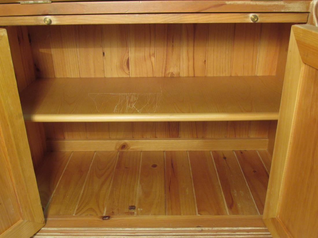 CARVED PINE SECRETAIRE BOOKCASE - 5