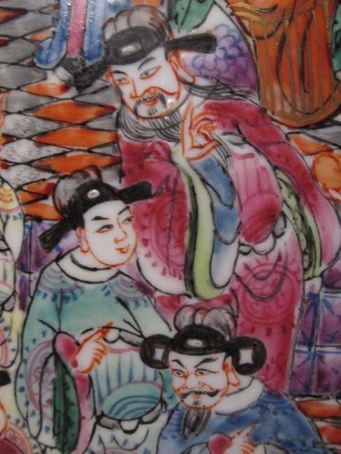 PAIR CHINESE ROSE MANDARIN GARDEN STOOLS - 4