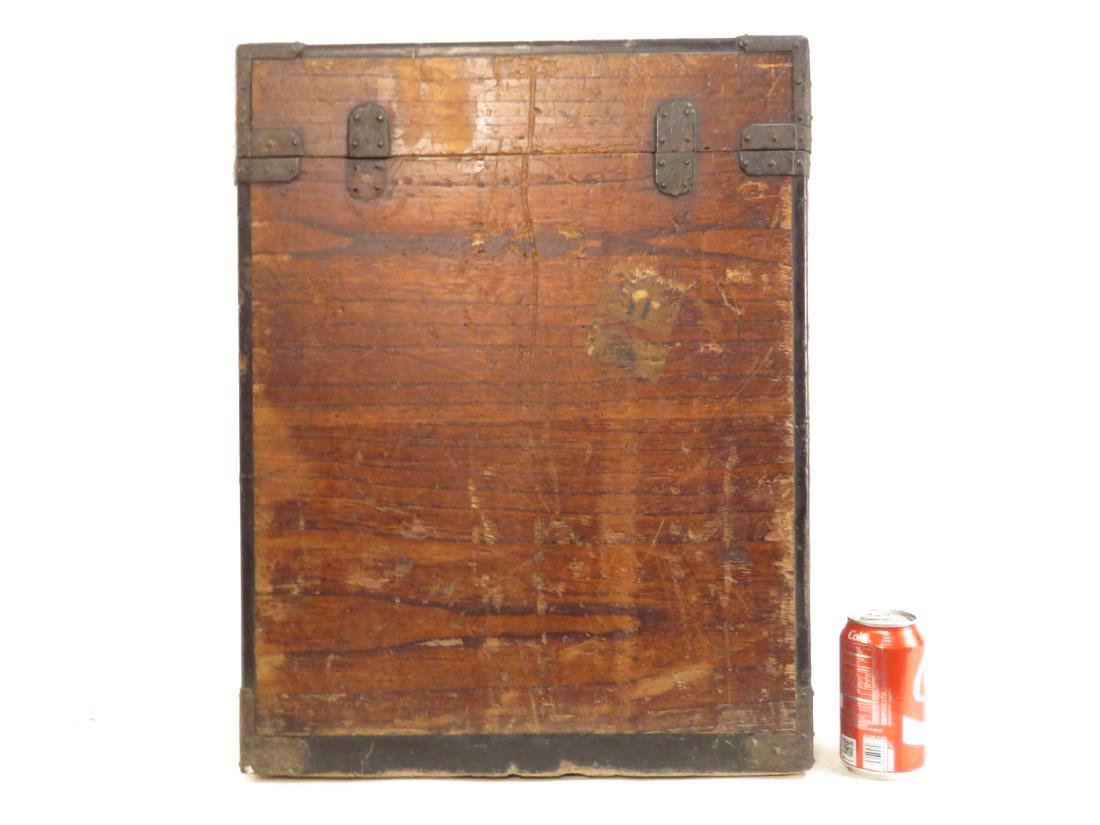 ANTIQUE JAPANESE BRONZE MOUNTED TANSU STYLE BOX - 4
