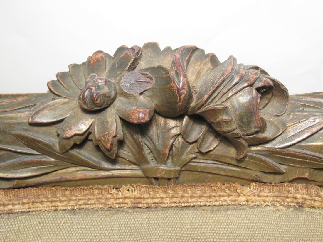 PAIR OF FRENCH CARVED WOOD PETITE POINT BERGERE CH - 4