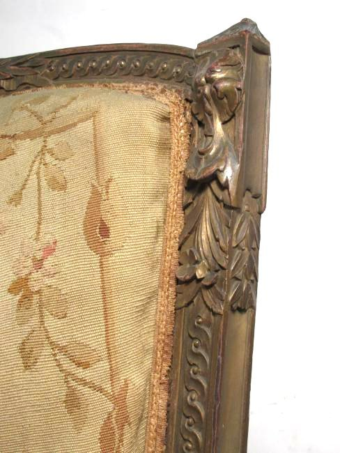 PAIR OF FRENCH CARVED WOOD PETITE POINT BERGERE CH - 5