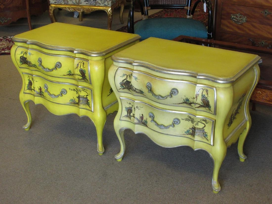 UNION NATIONAL YELLOW CHINOISERIE STYLE BEDROOM SE